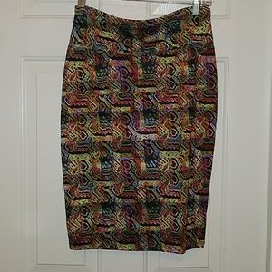 Small LuLaroe Skirt with fun colorful print NWOT